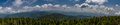 Great smokey mountains panorama of the Stock Photo