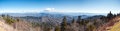 Great smokey mountains panoramic of Royalty Free Stock Photography