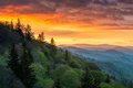 Great Smoky Mountains Sunrise Outdoors Scenic Landscape Gatlinbu Royalty Free Stock Photo
