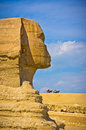 The great sphinx in giza egypt view of Royalty Free Stock Photos