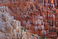 Great spires carved away by erosion in Bryce Stock Images