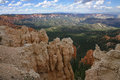 Great spires carved, Bryce Canyon Royalty Free Stock Photos