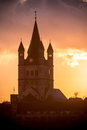 Great st martin church in cologne view on germany Royalty Free Stock Photography