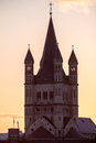 Great st martin church in cologne view on germany Stock Photo