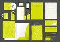 Great stationery design set Stock Image
