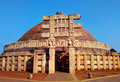 Great stupa of sanchi India, Buddhist monuments world heritage Royalty Free Stock Photo