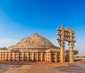 Great stupa sanchi madhya pradesh india ancient buddhist monument Stock Images