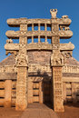 Great stupa sanchi madhya pradesh india ancient buddhist monument Royalty Free Stock Photo