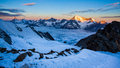 Great swiss landscape mountain in zermatt wallis switzerland Stock Image