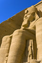 The great temple at abu simbel egypt of rameses ii one of seated colossal statues of pharaoh temples is part of Royalty Free Stock Photo