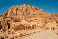 Great temple in ancient city of petra Royalty Free Stock Image