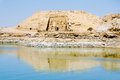 The Great Temple of Ramesses II view from Lake Nasser, Abu Simbel Royalty Free Stock Photo