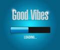 great vibes loading bar illustration design