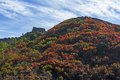 Great wall in autumn under the sunshine Royalty Free Stock Photos
