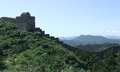 Great wall beacon tower at jinshanling panorama of the of the in summer in china Stock Photos