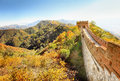 Great wall of china in autumn Stock Photos