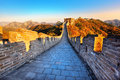 Great wall of china in autumn Stock Image