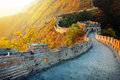 Great wall of china in autumn Royalty Free Stock Photography