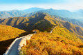 Great wall of china in autumn Royalty Free Stock Image