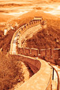 The great wall of china famous Royalty Free Stock Photo
