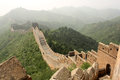 The great wall of china in a haze section jinshanling Stock Images