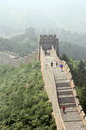 The great wall of china in a haze section jinshanling Royalty Free Stock Photo