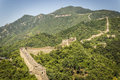 The great wall of china mutianyu section in beijing Stock Image