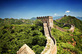 The great wall of china near jinshanling landmark on a sunny summer day Stock Photos