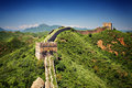 The great wall of china near jinshanling landmark on a sunny summer day Stock Photo