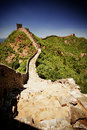 The great wall of china near jinshanling on a sunny day Royalty Free Stock Photos