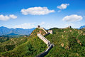 Great wall of china in summer day jinshanling section near beijing Stock Photos