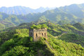 The great wall is china is to build longest in world and largest volume of an ancient defense engineering it is Stock Photography