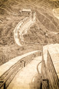 The great wall in china view of Royalty Free Stock Photography