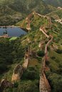 Great wall in India Stock Photo