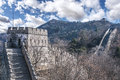 Great wall at mutianyu near beijing china Stock Image