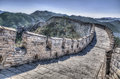 Great wall at mutianyu near beijing china Royalty Free Stock Images