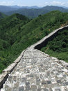Great wall old section panorama at jinshanling trough the window of the part of in summer in china Stock Photos