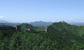 Great wall panorama at jinshanling of the part of in summer in china Royalty Free Stock Photos