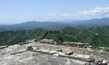 Great wall terrace panorama at jinshanling from of the in summer in china Royalty Free Stock Image