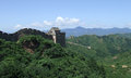 Great wall tower panorama at jinshanling of the beacon of the in summer in china Royalty Free Stock Photography