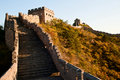 Great Wall under the sunshine Royalty Free Stock Photography