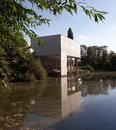 Great war museum peronne in france reflected in a lake Stock Images