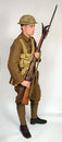 Great war royal naval division soldier a uniform as worn by british sailors fighting in the trenches as soldiers this Royalty Free Stock Photography