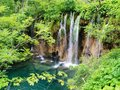 Great waterfall in croatia national park where they were shooting a film about winnetou Royalty Free Stock Image