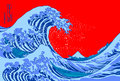Great wave hokusais wood block print Stock Photography