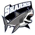 Great white shark mascot vector of Stock Photography