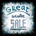 Great winter sale Royalty Free Stock Photo