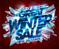 Great winter sale poster vector design Royalty Free Stock Photo