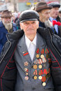 Great World War veteran with medals Stock Photography
