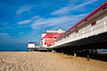 Great yarmouth july the old pier on july in great typical britain Stock Image